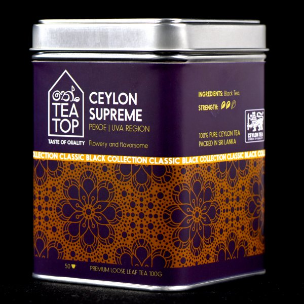 Ceylon Supreme Black Tea PEKOE Uva region pure Ceylon Tea